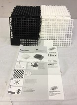 Junior Giant Chess and Checker Game Board Black and White - $45.35