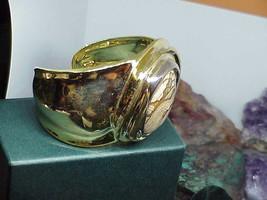 Robert Lee Morris 925 Silver Gold Gemstone Biomorphic Bangle Bracelet Ne... - $257.39