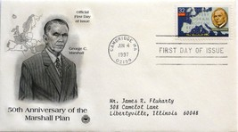 June 4, 1997 First Day of Issue, PC Society Cover, Marshall Plan #24 image 1