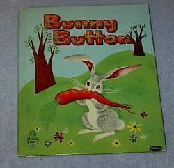 Children's Tell A Tale Book Bunny Button, 1953 by Revena