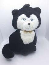 Vintage Mattel Emotions Black Cat Kitten With Bowtie Blue Eyes 1984 - $36.47