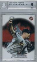 2002 Pristine #157 Jason Simontacchi Beckett 9 Rookie - $19.75