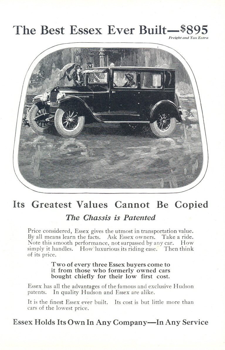 1925 The Best Ever Build Hudson Essex Car vintage print ad