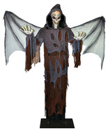 "LIFE SIZE ANIMATED 80"" Lord Of Death OUTDOOR HALLOWEEN SPIRIT PROP YARD ... - £190.77 GBP"
