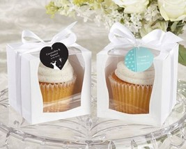 Set of 12 Sweetness and Light Cupcake Favor Boxes Cupcake Party Favors - $15.84