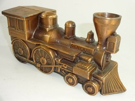 Vintage 1974 Copper Tone General Train Banthrico Chicago Coin Bank - $16.99