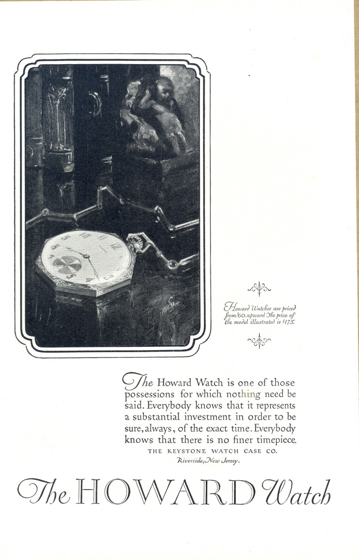 1926 Howard Watch Vintage Classic masterpiece print ad