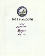 1998 Plymouth FULL LINE sales brochure catalog PROWLER NEON VOYAGER 98 - $8.00
