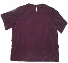 Maggie Barnes Size 5X Dark Burgundy Brown Polyester Blouse - $12.99