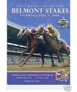 2008 Belmont Stakes Program  -DA Tara -upset  WINNER - $5.00