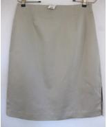 NWT Ann Taylor Khaki skirt Chino 8 Cotton Stret... - $39.99