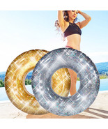 YhsBUY® Bling Swimming Ring Colorful Glitters Gold Silver Shinning Swimm... - $36.18