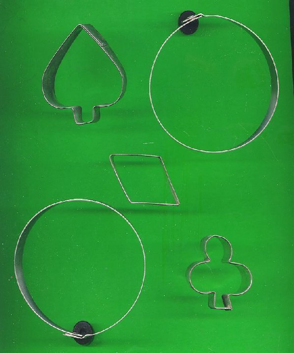 Lot of 5 Metal  Cookie Cutters ck21