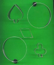 Lot of 5 Metal  Cookie Cutters ck21 - $6.00