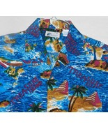 Islander Size Men's Medium Blue Hawaiian Themed Shirt - $18.99