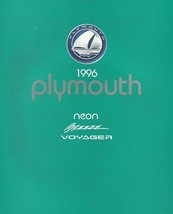 1996 Plymouth FULL LINE sales brochure catalog BREEZE NEON VOYAGER 96 - $6.00