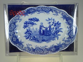 Spode Blue Room Oval Fluted Tray Girl at Well NEW IN BOX (Great Soap Dish) - $8.56