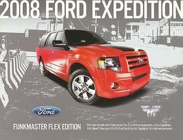 2008 Ford EXPEDITION FUNKMASTER FLEX edition brochure catalog sheet US 08 - $9.00
