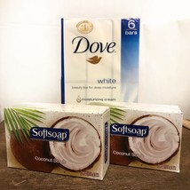 Dove And Soft soap 8 Bars Shower - $10.98