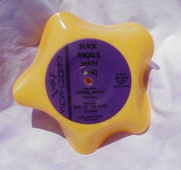 "Yellow Star Shaped Vinyl 7"" Record Bowl"