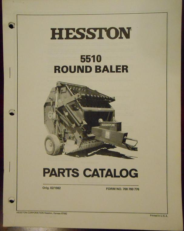 hesston 5510 round baler parts manual and 50 similar items  5510 round  baler parts