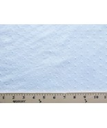 "60"" Wide Cotton Swiss Tufted Dot White Fabric Solid by the Yard - D159.04 - $7.91"