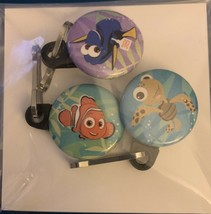 Finding Nemo 3 Pack Zipper Pulls Nemo Dory Crush Disney Movie Club Exclu... - $19.99