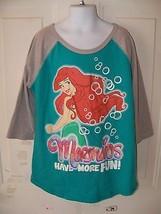 Disney Little Mermaid Mermaids Have More Fun T-shirt Size L Girl's EUC - $15.77