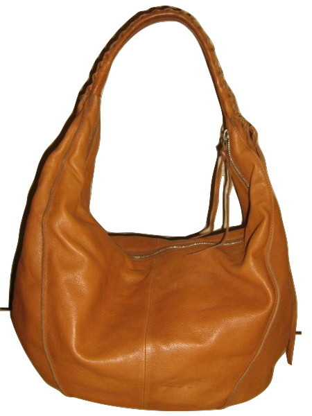Christopher Kon Extra Large Soft Caramel Leather Slouch