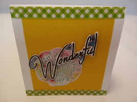 a handmade Any occasion yellow blank greeting card - $3.25