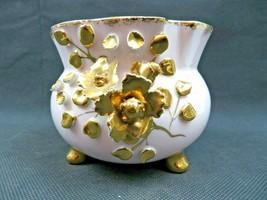 Vintage Japan Leftons Lefton China porcelain hand painted bowl w roses d... - $39.00
