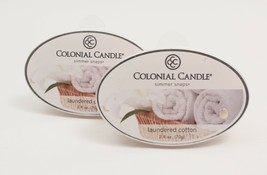Colonial Candle Simmer Snaps Wax Melts Laundered Cotton Lot of 2 - $9.49