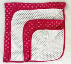Carters Child Of Mine Pink White Black Polka Dot Flowers Girl Baby Blanket B97 - $19.99