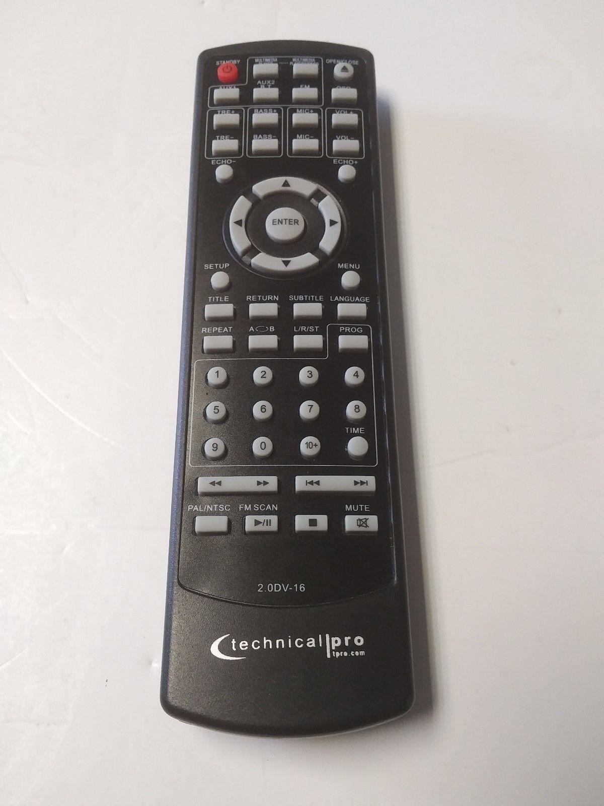 Original Technical Pro REMOTE CONTROL for DV4000