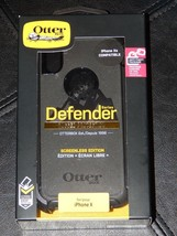 New! Black OtterBox Defender Series Screenless Case iPhone X Free Shipping - $23.27