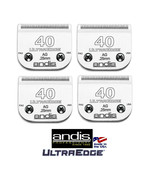 4-ANDIS ULTRAEDGE 40 BLADE Fit Many Oster,Wahl,Moser,Laube Clippers Pet ... - $107.73