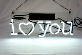 "New 'I Love You' Beer Bar Pub Art Banner Real Neon Light Sign 12""x5"" - $59.00"