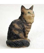 Brown Maine Coon Cat TINY ONES Figurine Statue Pet Resin - $8.99