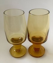 Vintage / Mid Century  French Amber Liqueur Glasses - Set of Two - $7.13