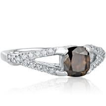 1.48 TCW Champagne Cushion Cut Diamond Engagement Ring 14k White Gold - $4,158.00