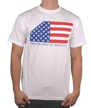 Diamond Supply Co. Black or White USA Made American Flag Stars Stripes T-shirt image 4