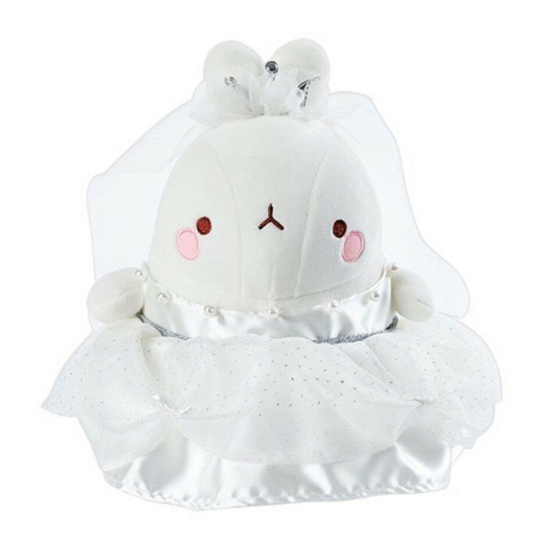 Molang Wedding Dress Stuffed Animal Rabbit Plush Toy 10.2 inches