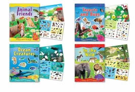 B-KIDS Children's Sticker Activity Books Each Containing Over 70 Reusabl... - $10.75
