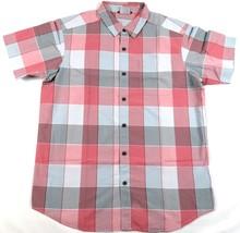 Medium Men's Shirt Columbia SS Thompson Hill Yarn Dye Woven Sunset Red Plaid