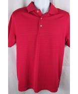 Mens Grand Slam Slim Fit Polo Golf Shirt Medium Dark Pink Short Sleeve - $19.79