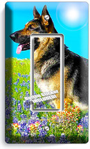 Adult German Shepherd Canine Dog Light Single Gfci Switch Wall Cover Room Decor - $8.97