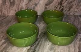 "Royal Norfolk 6 1/2"" Bowls Soup Cereal Set Of 4 Lime Green(New)SHIPS N 24HR RARE - $39.48"