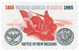 1965 Battle of New Orleans US Postage Stamp Catalog Number 1261 MNH