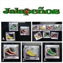 Hot Pepper Jalapeño Italian Charm Classic 9mm Sz  Choose from three colors! - $2.59