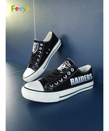Oakland Raiders shoes Oakland Raiders sneakers Fashion Christmas gift bi... - $55.00+